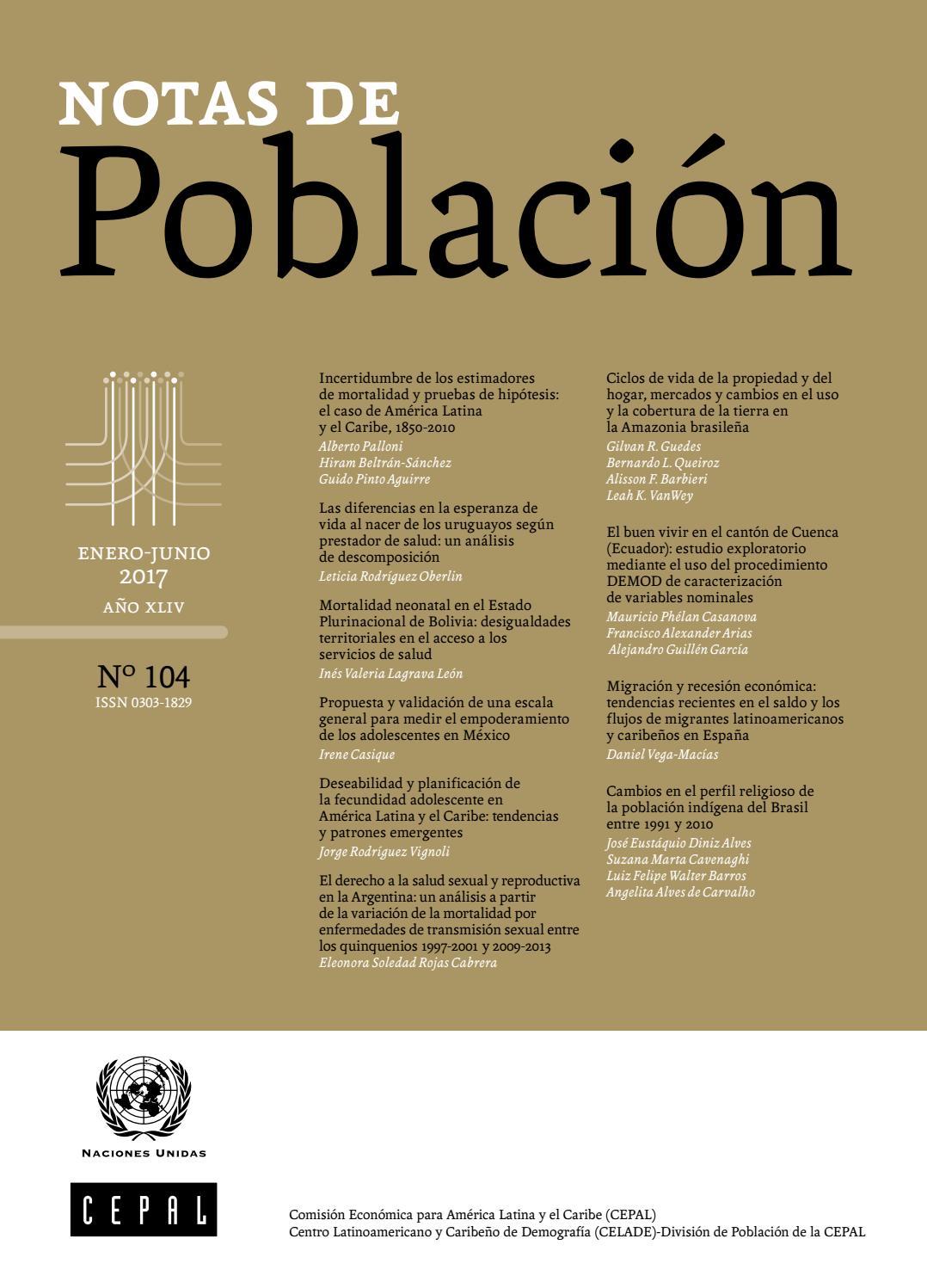 Notas de Población N° 104 by Publicaciones de la CEPAL, Naciones ...