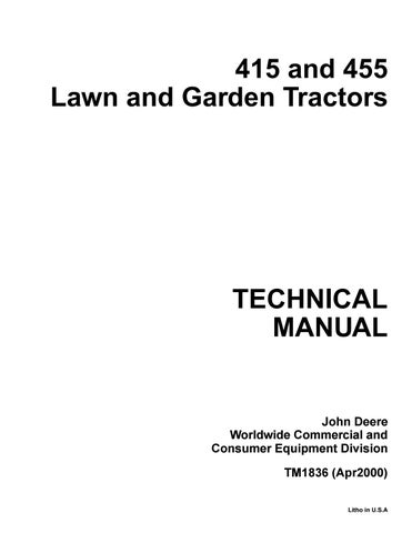 John deere 455 lawn garden tractor service repair manual by jhjnyiksmm -  issuuIssuu