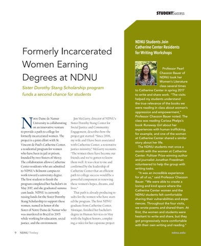 Page 9 of Formerly Incarcerated Women Earning Degrees at NDNU