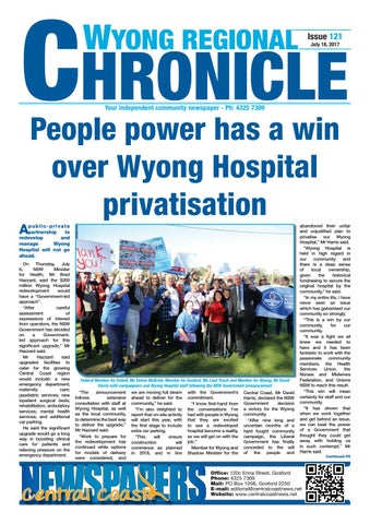 Issue 121 of wyong regional chronicle by central coast newspapers page 1 sciox Image collections