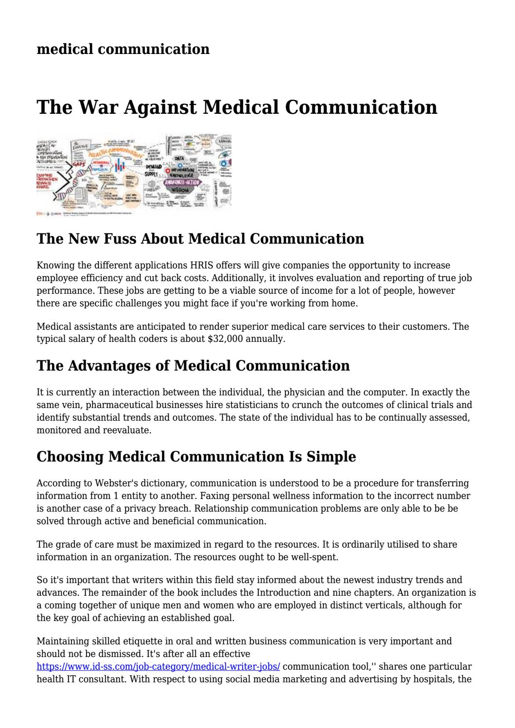 medical communication... by branchdxzzlzutza - issuu