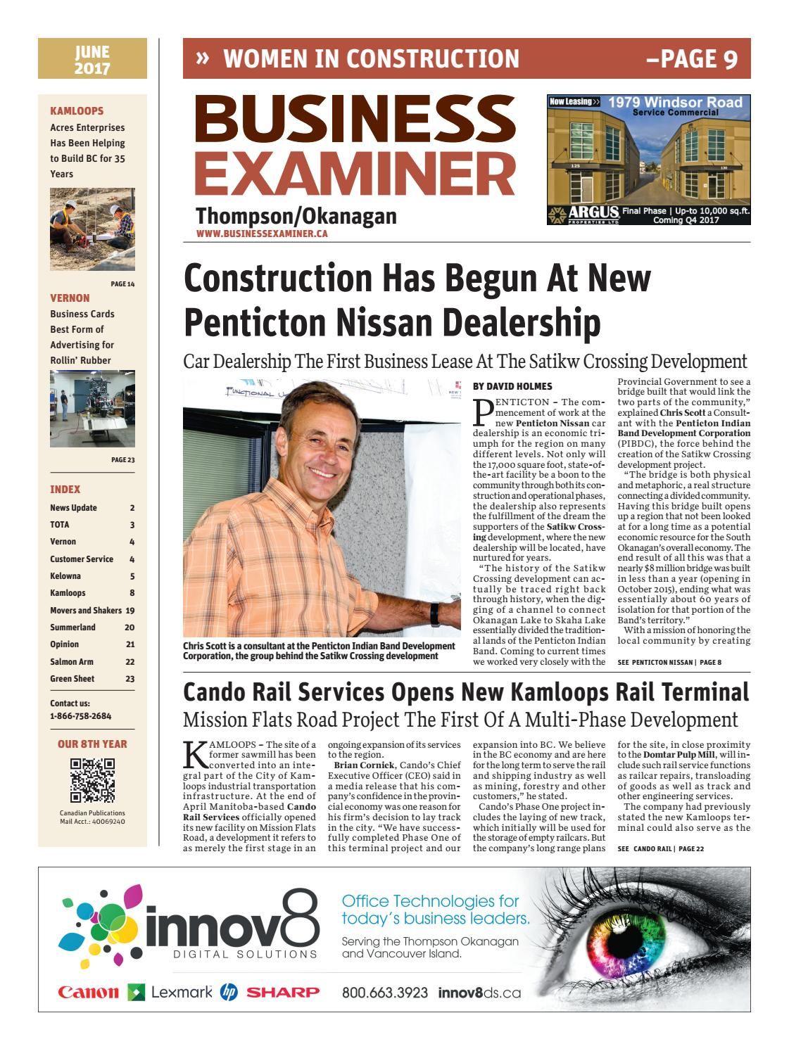 Business Examiner Thompson/Okanagan - June 2017 by Business