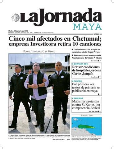 La Jornada Maya · martes 18 de julio 65ecac7e8f45e
