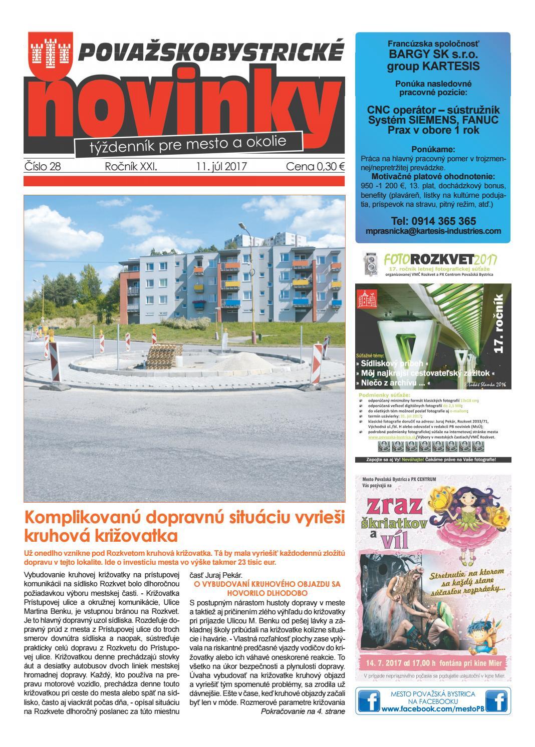 9ac648d34fc07 Považskobystrické noviny č. 28/2017 by Považskobystrické novinky - issuu