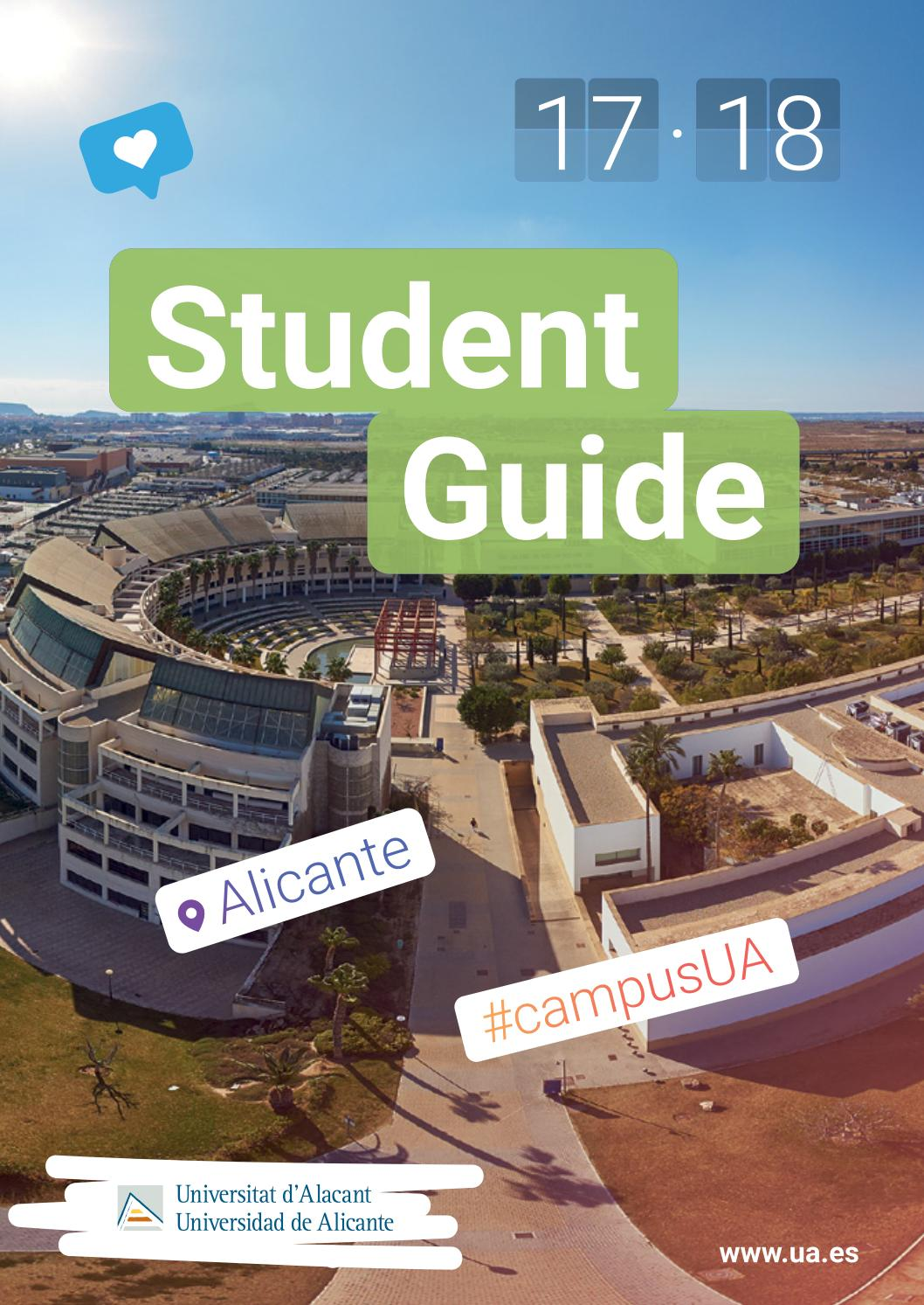 Student Guide 17-18 Universidad de Alicante by Oficina de ...