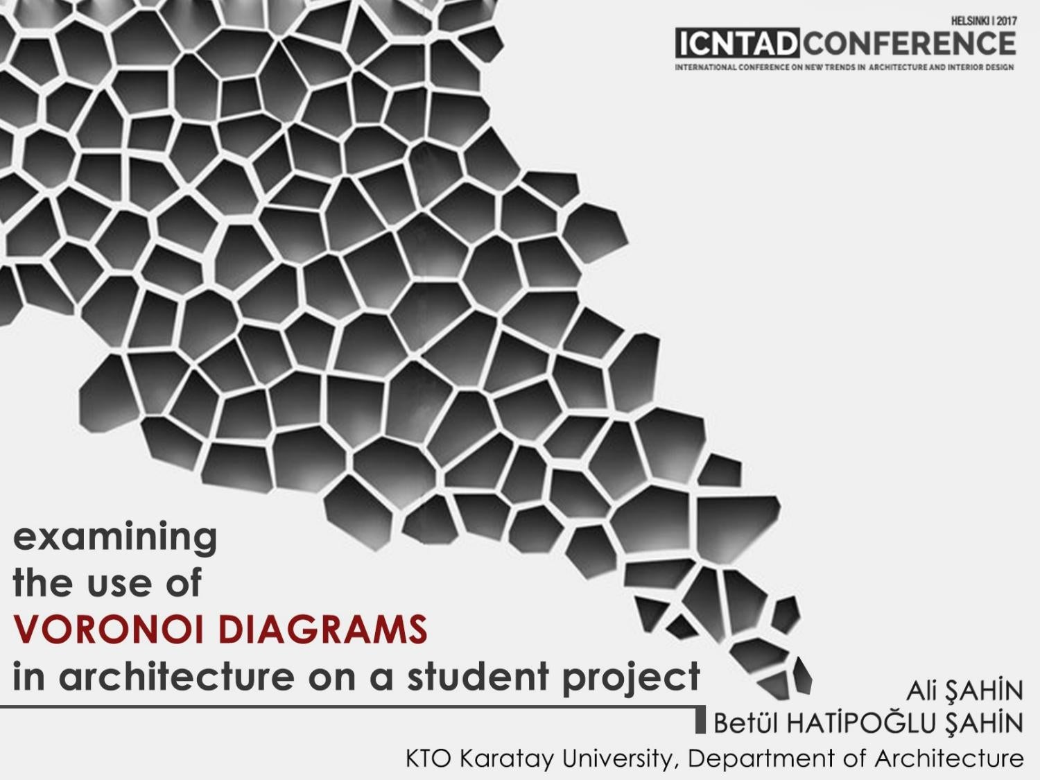 examining the use of Voronoi Diagrams in architecture on a