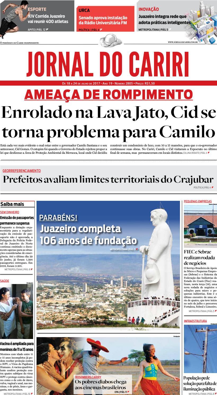 3e41d5ccfde16 Jornal do Cariri - 18 a 24 de julho de 2017 by Ceará News - issuu
