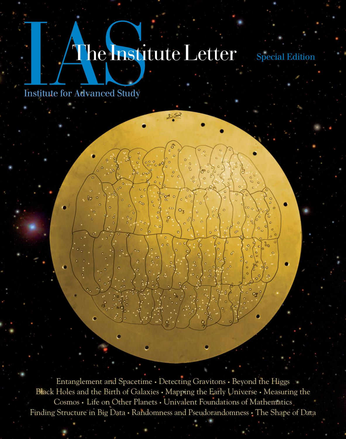 Institute Letter Special Edition by Institute for Advanced Study - issuu