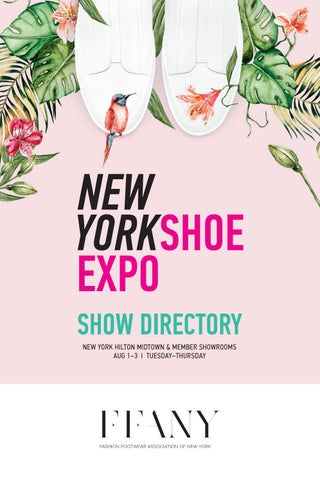 FFANY New York Shoe Expo Directory: August 1-3, 2017