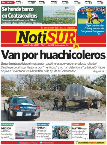 NotiSUR 17 de julio 2017 by Diario NotiSUR Coatzacoalcos 2015 bd3c0003fba