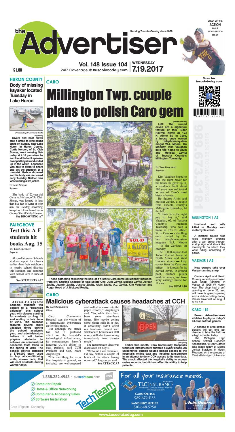 26d35a56cad5 Tca all pages 7 19 17 by Tuscola County Advertiser - issuu