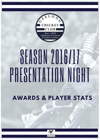 734d71f1014117 Geelong Cricket Club Season 2016/17 Player Awards and Stats Presentation  Night