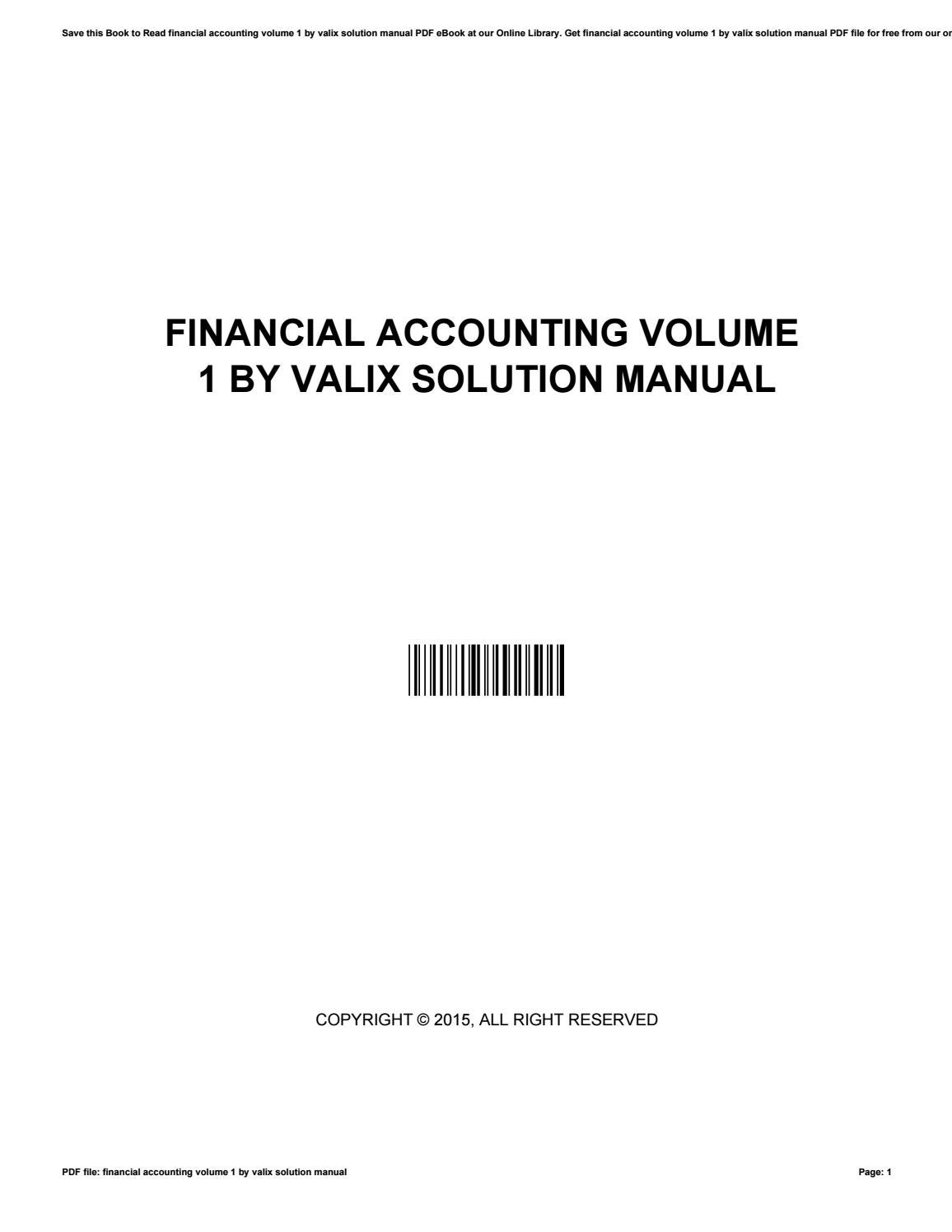 Financial accounting volume 1 by valix solution manual by JamesGidney4841 -  issuu