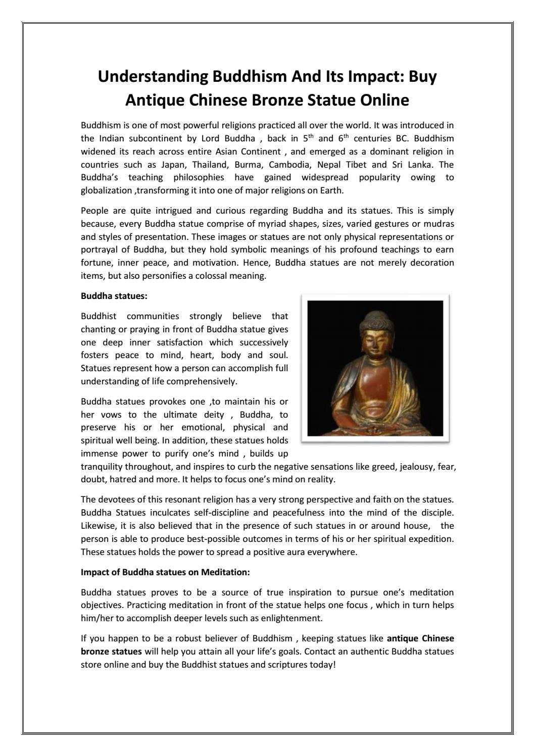 Understanding buddhism and its impact buy antique chinese bronze understanding buddhism and its impact buy antique chinese bronze statue online by miaasmith issuu buycottarizona