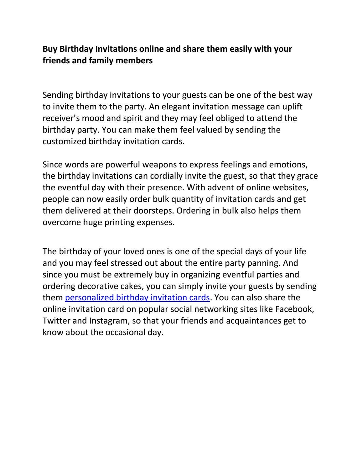 Online birthday invitation - Wedeogram by Wedeogram - issuu