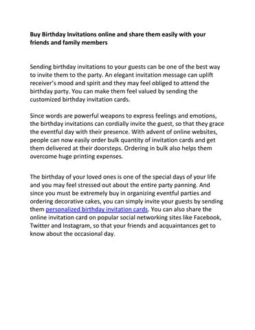Online Birthday Invitation Wedeogram By Wedeogram Issuu