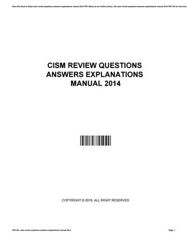 cism review questions answers explanations manual 2014 by rh issuu com cism review manual 2014 cism review manual 2015 pdf