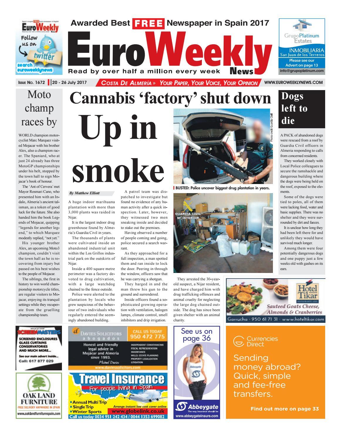 Actor Porno En Tenerife 2017 euro weekly news - costa de almeria 20 – 26 july 2017 issue