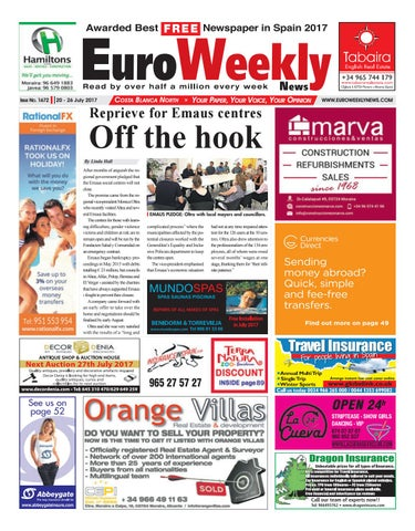 Euro Weekly News - Costa Blanca North 20 – 26 July 2017 Issue 1672