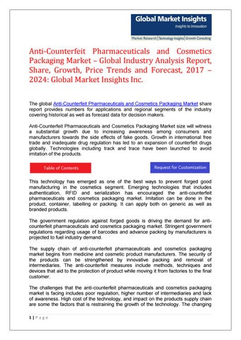 Pdf anti counterfeit pharmaceuticals and cosmetics packaging market