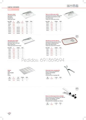 Lacor 66906DZ Couvercle Bac 1//6 Inox