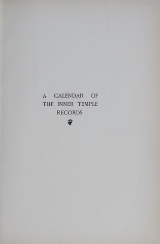 Calendar of inner temple records vol 2 1603 1660 by The Inner Temple