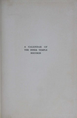 Calender of inner temple records vol 5 1750 1800 by The