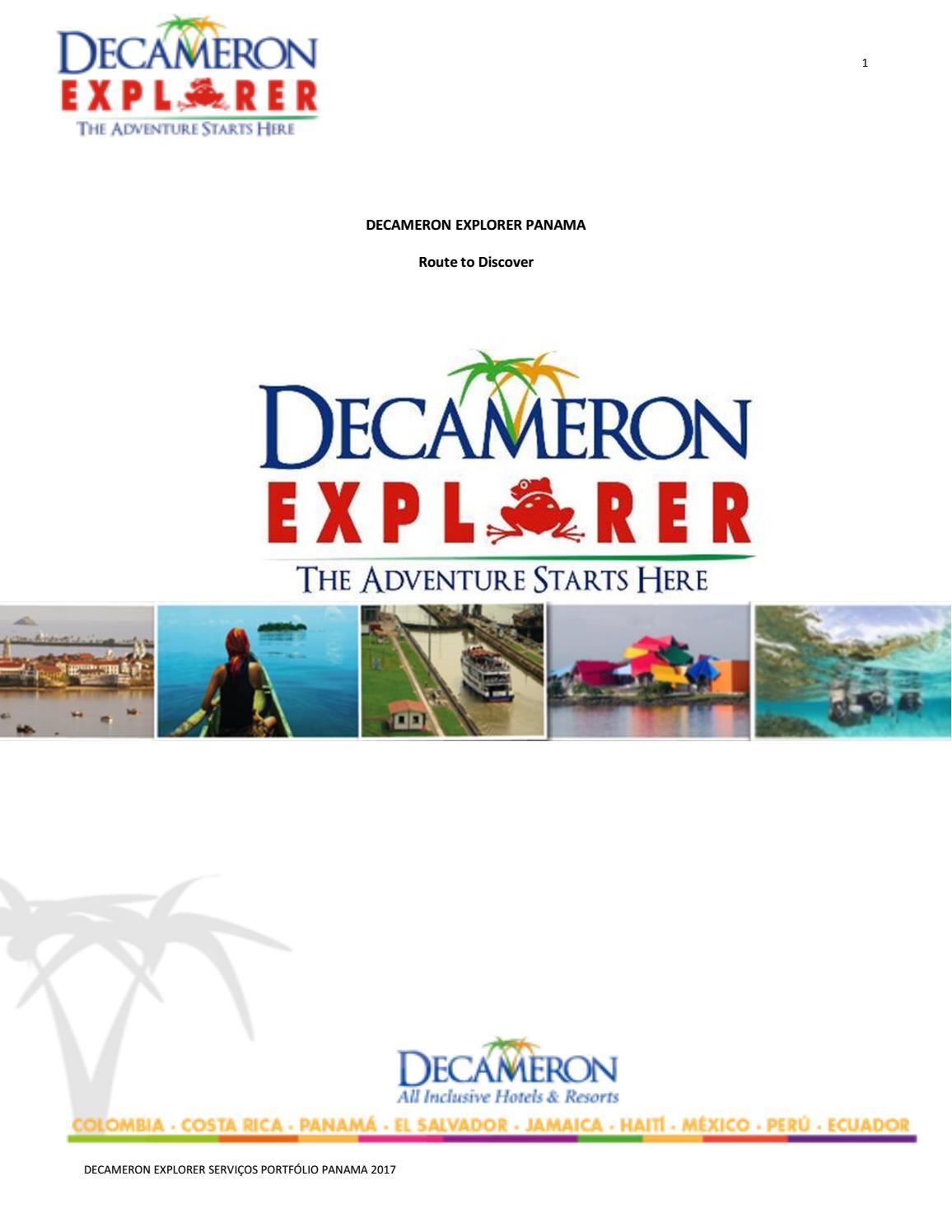 e9c3fb1abd569 PT - Decameron Explorer Panamá by Hoteles Decameron - issuu