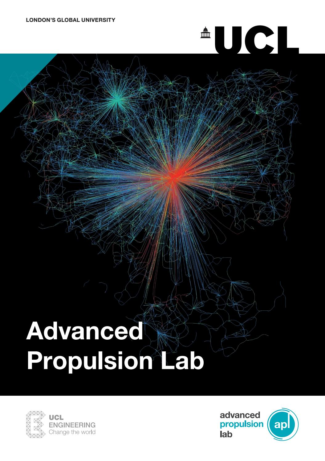 Ucl Advanced Propulsion Lab Brochure By Ucl Chemical Engineering Issuu
