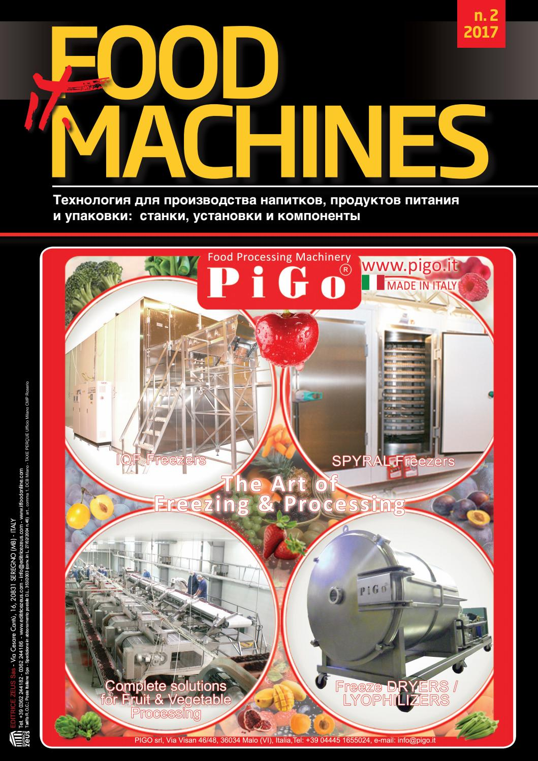 IT. FOOD MACHINES - 2017 - <b>2</b> by Editrice Zeus - issuu