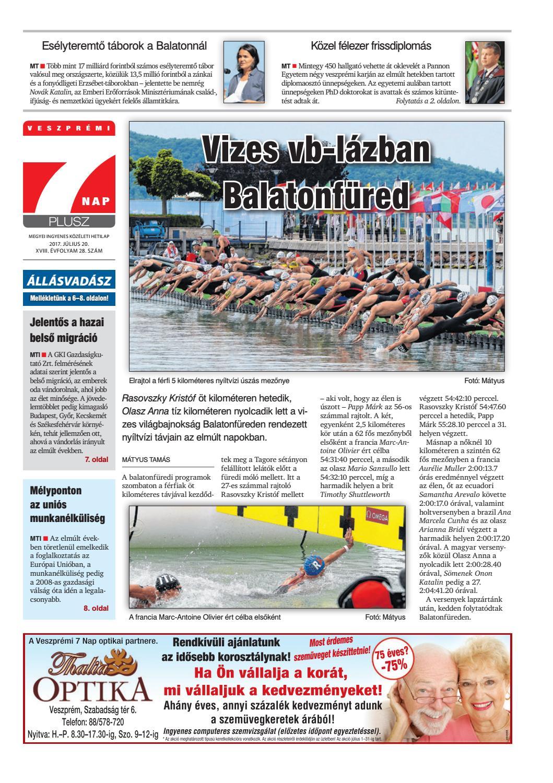 129673633e Veszprémi 7 Nap Plusz - 2017. 07. 20. by Maraton Lapcsoport Kft. - issuu