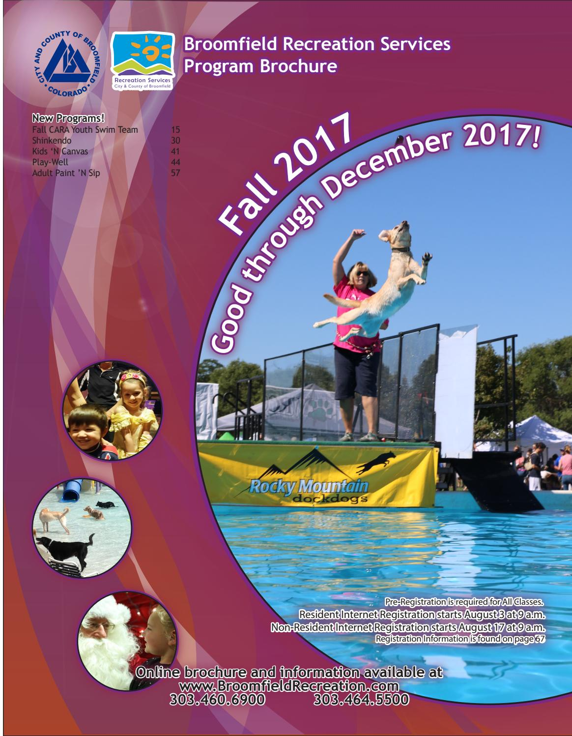 broomfield recreation brochure - fall 2017 by city and county of