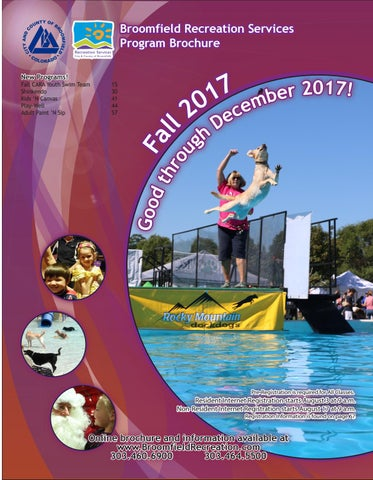 b5047e4c7450 Broomfield recreation Brochure - Fall 2017 by City and County of ...