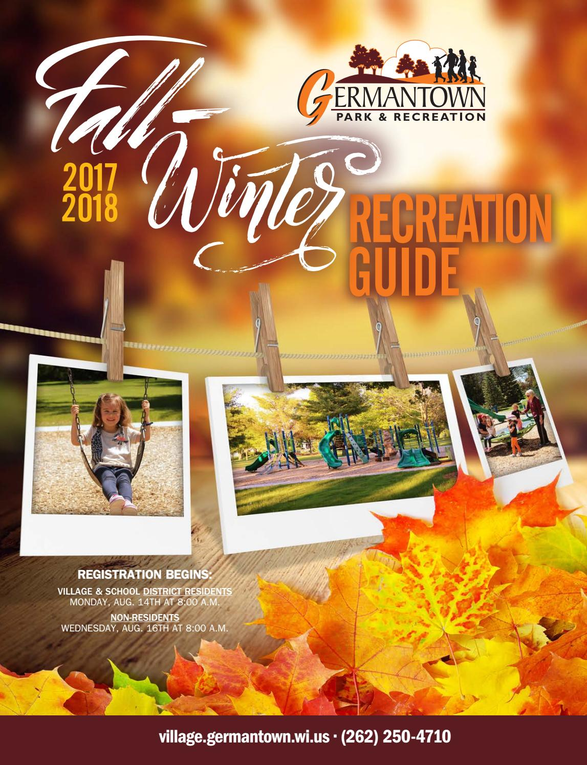Germantown Park and Recreation Fall/Winter Guide 2017-2018 by ...