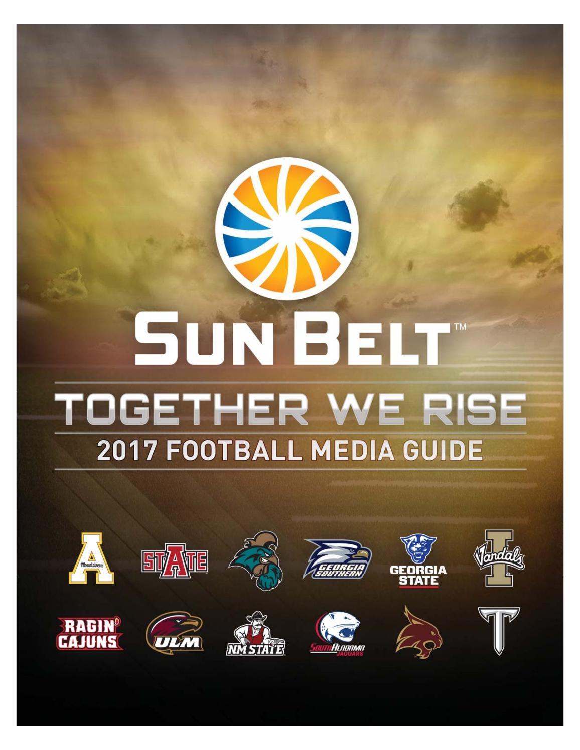 01cf41ebd6b3 2017 Sun Belt Football Media Guide by John McElwain - issuu