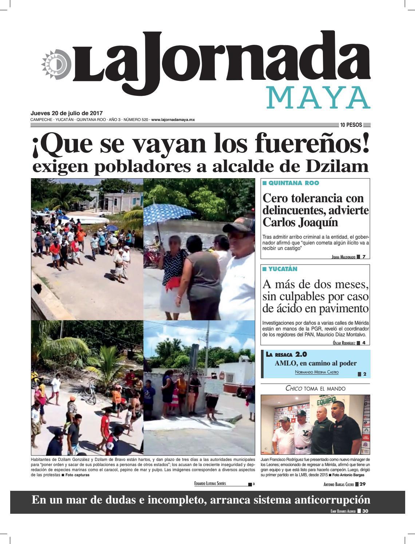 La Jornada Maya · jueves 20 de julio fab27594e73