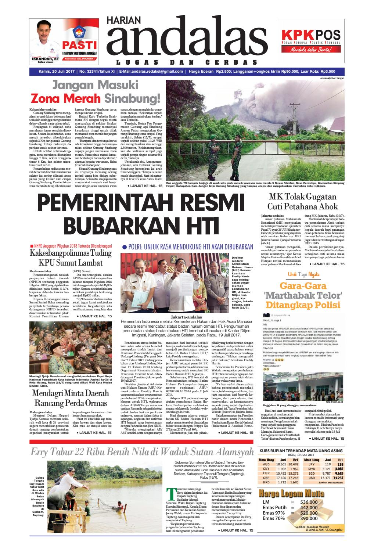 Epaper Andalas Edisi Kamis 20 Juli 2017 By Media Issuu Fcenter Lemari Pakaian Wd Hk 1802 Sh Jawa Tengah