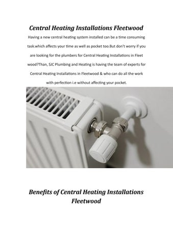 Central heating installations fleetwood by SJC Plumbing and Heating ...