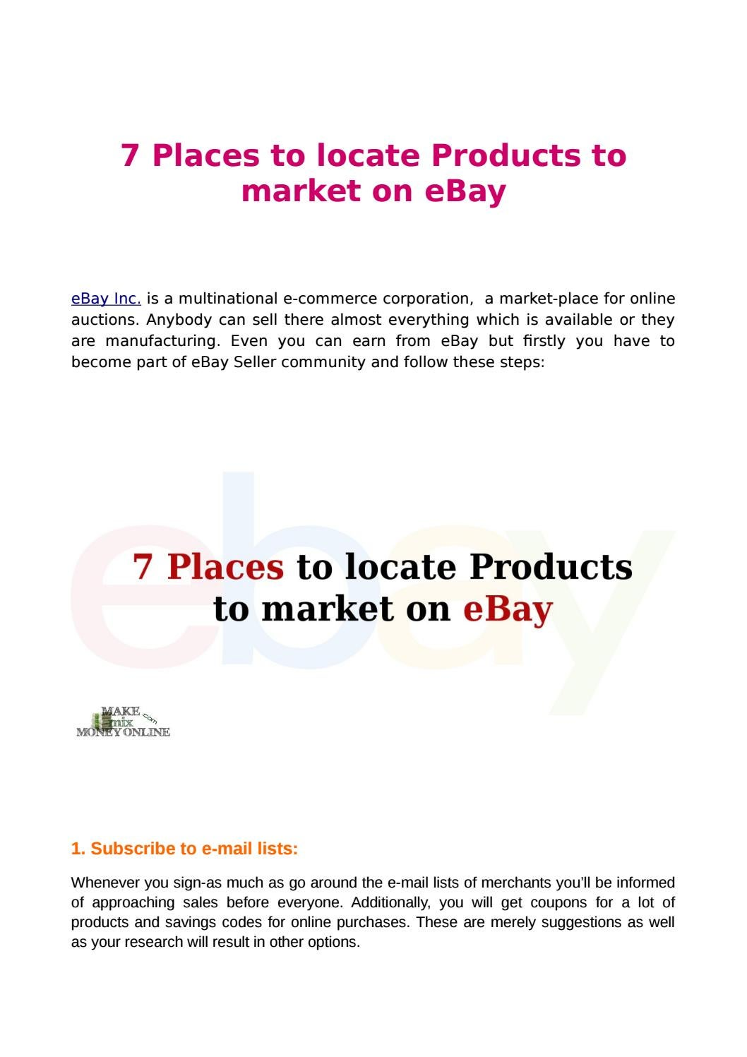 7 places to locate products to market on ebay