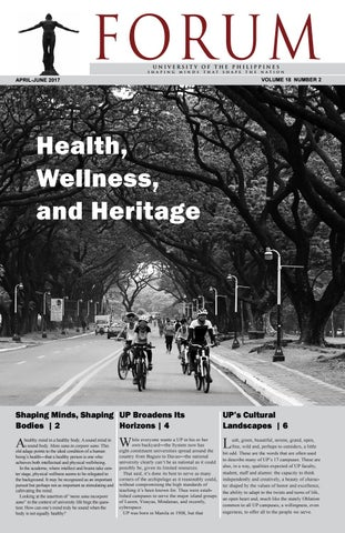 UP Forum Health, Wellness, and Heritage by University of the