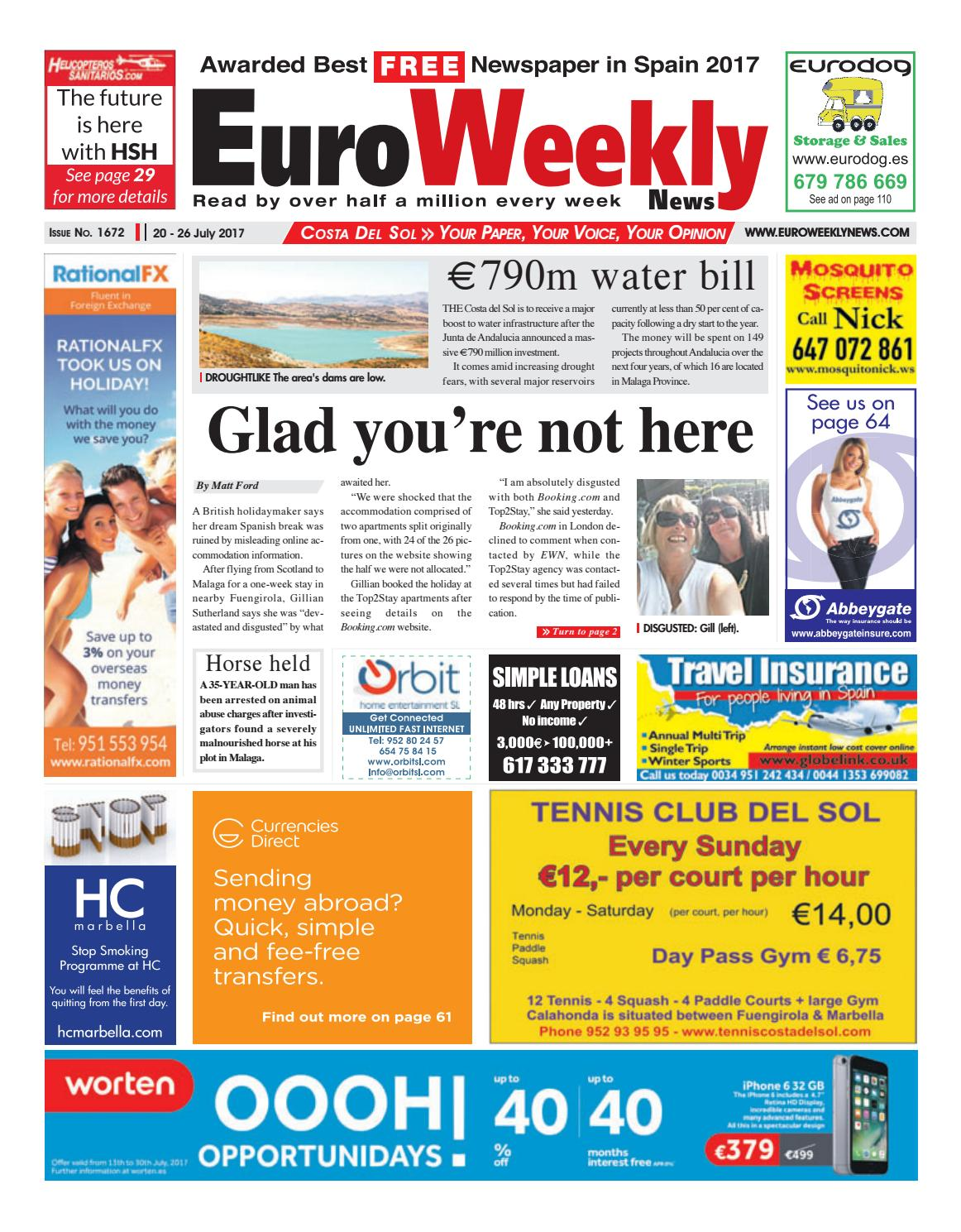 Euro Weekly News - Costa del Sol 20 – 26 July 2017 Issue 1672 by Euro  Weekly News Media S.A. - issuu