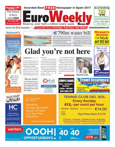 Euro Weekly News - Costa del Sol 20 – 26 July 2017 Issue 1672 by ... 49d63ea7421