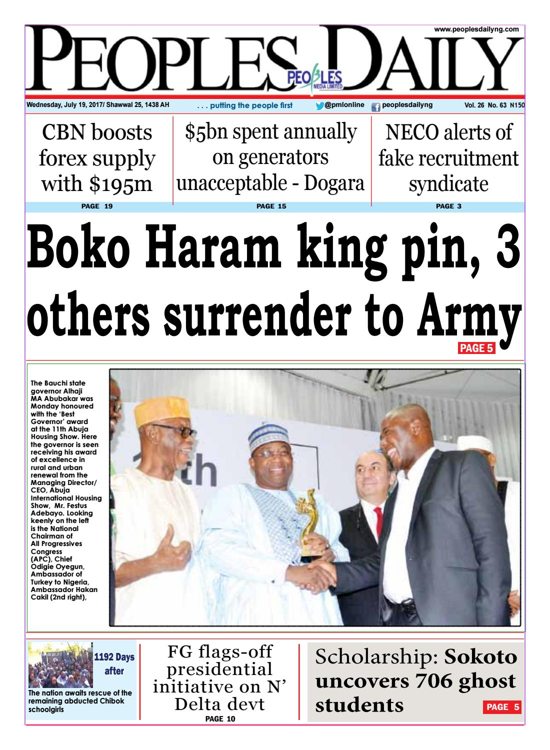 Wednesday, July 19, 2017 Edition by Peoples Media Limited