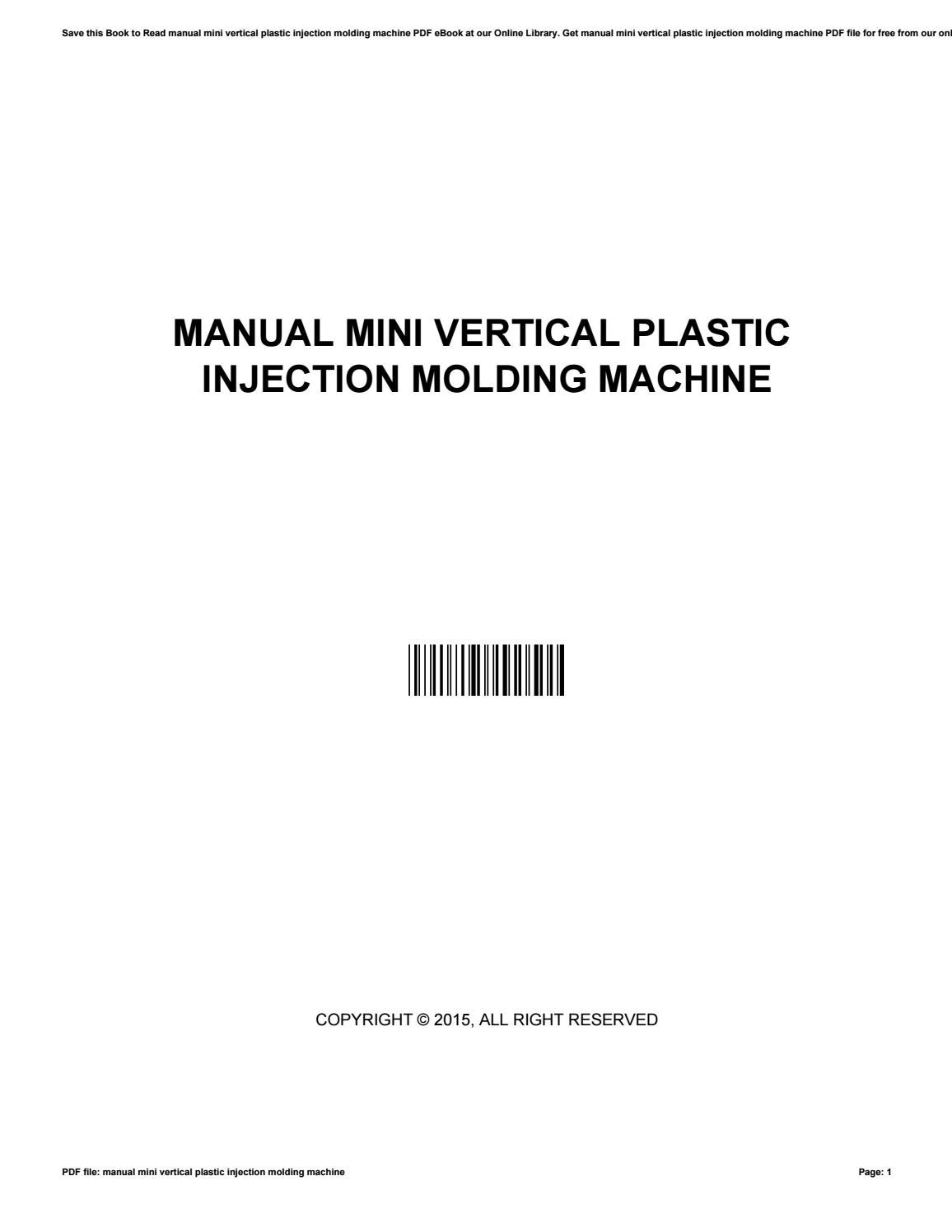 Manual mini vertical plastic injection molding machine by