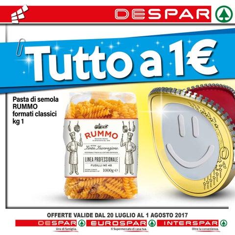 Volantino despar 20 luglio al 1 agosto 2017 by despar for Volantino despar messina e provincia