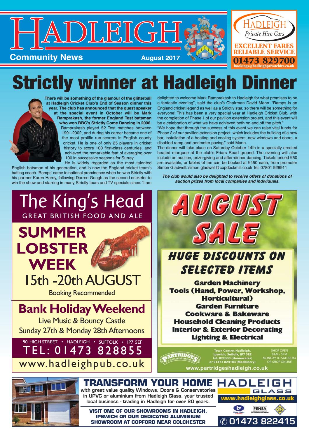970f7b7804cde0 Hadleigh Community News, August 2017 by Keith Avis Printers - issuu