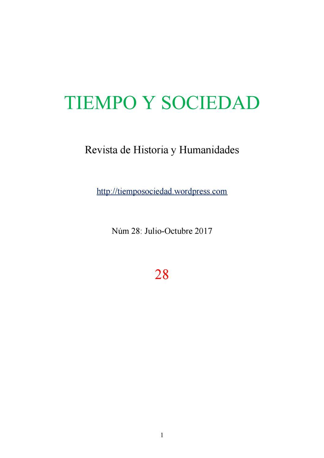 Tiempo y sociedad 28 by Tiempo y Sociedad Revista de Historia y ...