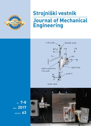 Journal of Mechanical Engineering 2017 7-8 by Darko Svetak