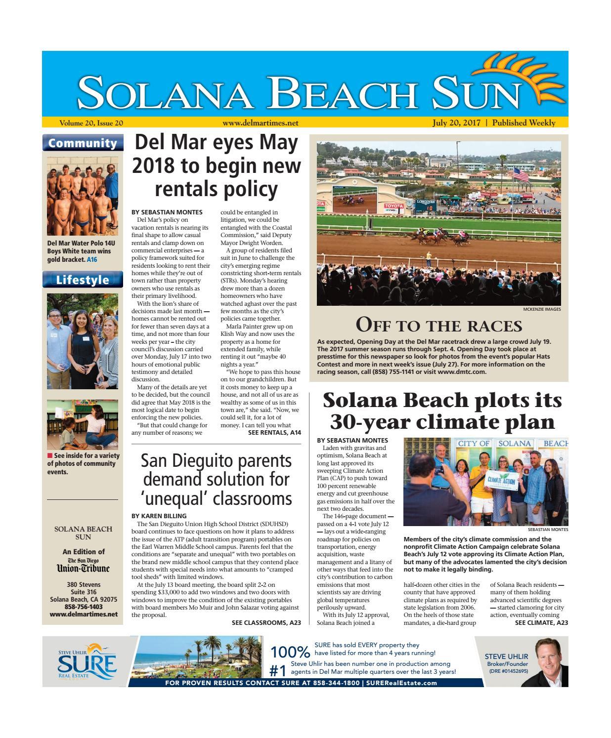 b9fb204b4e9 Solana Beach Sun 07 20 17 by MainStreet Media - issuu