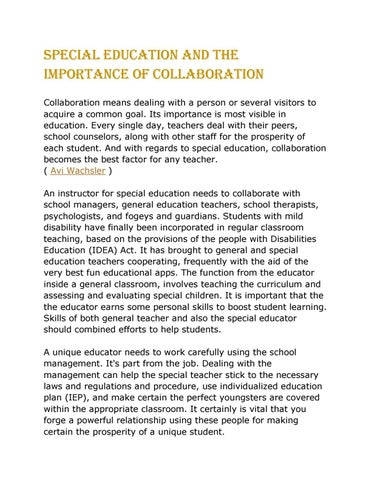 importance of school management